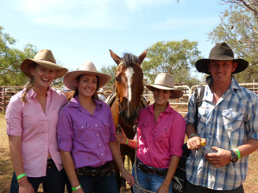 The Crew at Derby rodeo, pre STation Challenge, L-R Jaime, Jess, Anghard and Jeremy