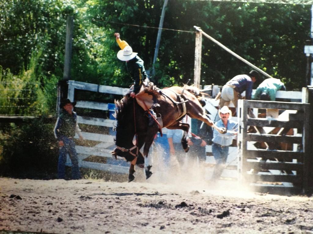 Justin in his Saddle Bronc days