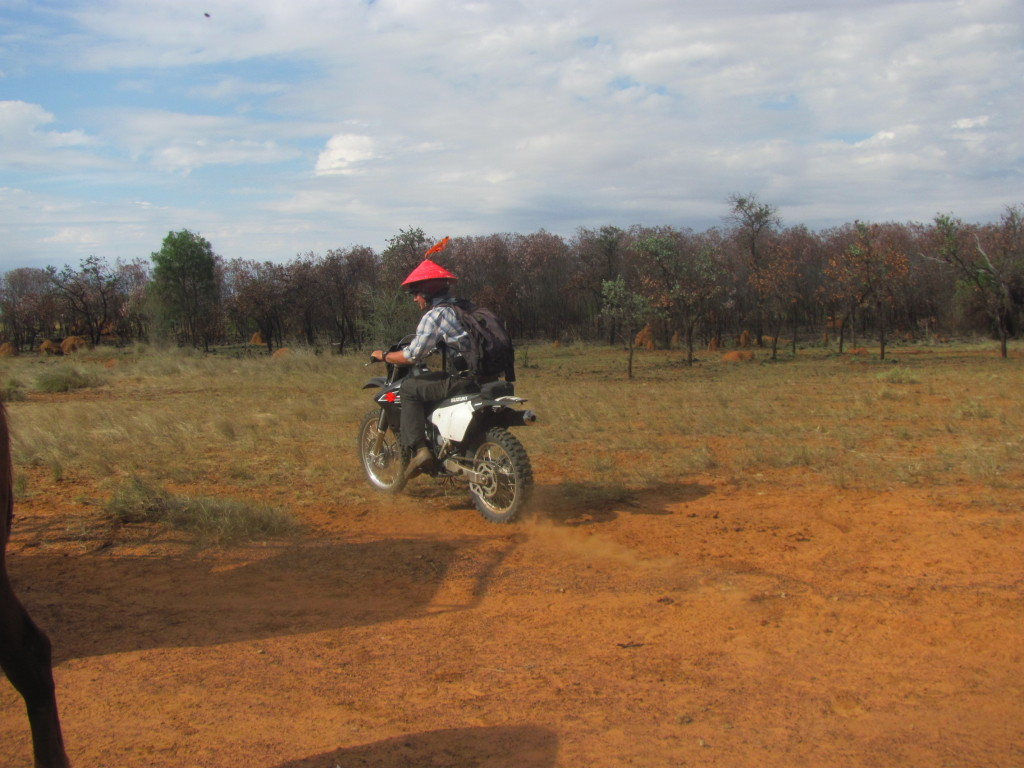 The bikes are useful for more than just mustering, like being helicopter beacons. (Jeremy)