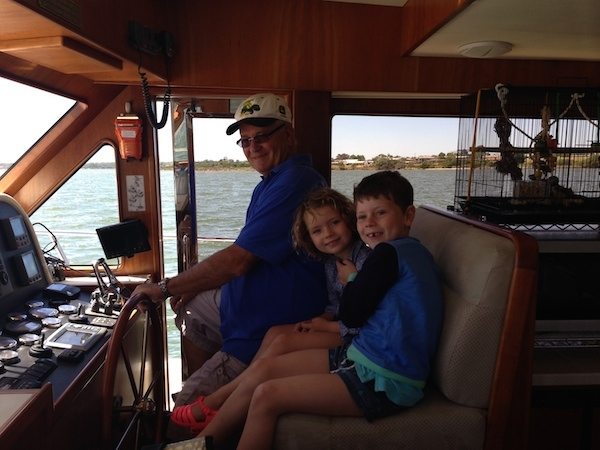 Boating with Stan on Gippsland Lakes