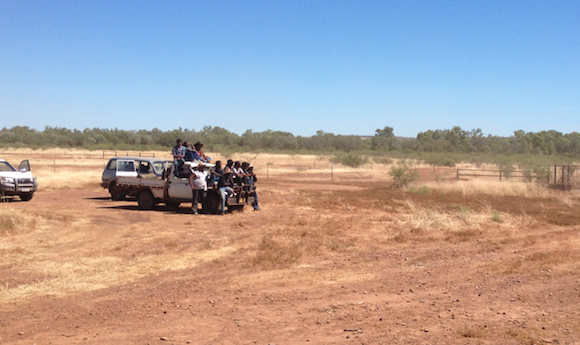 How many people can you fit on a ute? Some of the people from the local aboriginal communities took part in our stock handling school too.