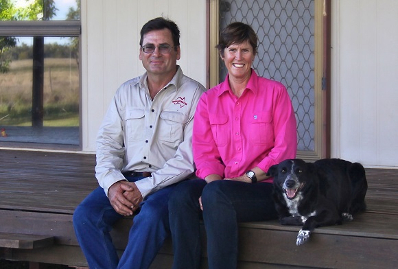 On our front verandah at Eversleigh. Roger with me and my constant companion, Dixie. Dixie is a border collie/kelpie cross and she would have been a great sheep dog except we sold our sheep not long after she came to live with us. Now she is a frustrated sheepdog who is loved by everyone who meets her