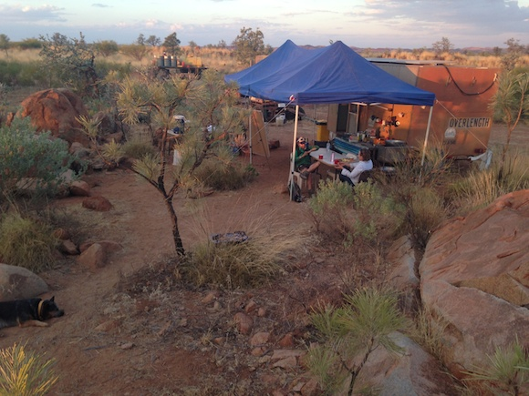 (3) Little Degrey Camp, we live here for 2 weeks of the mustering season. copy