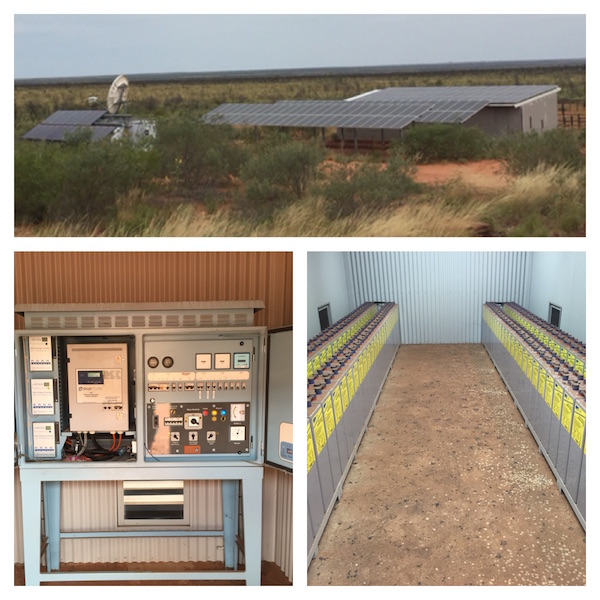 2.1 Satellite phone Unit and Solar Panels and Solar Invertor & Battery Shed