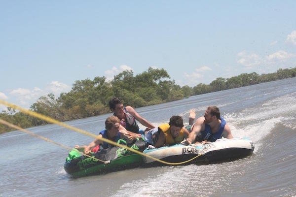 7.19Boys having fun on the tubes