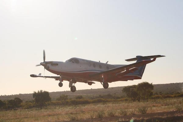 7.6RFDS evacuation taking place with the plan taking off just on sunset