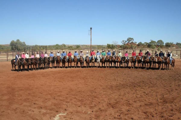 Blog 2 - Photo 8 All staff members who participated in Wayne Beans horsemanship school. 2