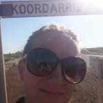 4.1. Me at the North West Coast Hwy turnoff to Koordarrie