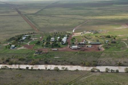 Aerial photo of Alexandria homestead