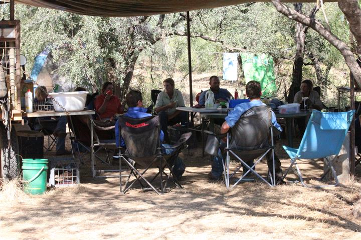 4.8 Ringers sitting around at stock camp (Small)