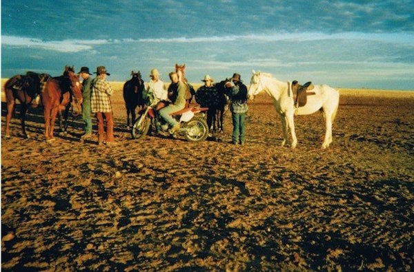 Photo 2. My first stock camp, waiting at the bore for the plane to bring the cattle to us. copy