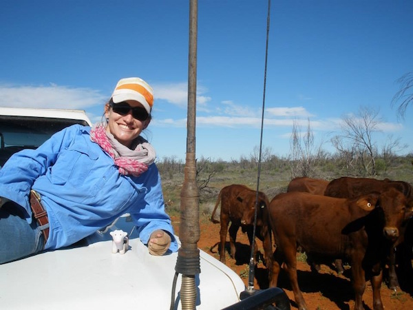 Photo 1. Hi I'm Jodie, one of the Pastoral Production Officers at Katherine Research Station copy