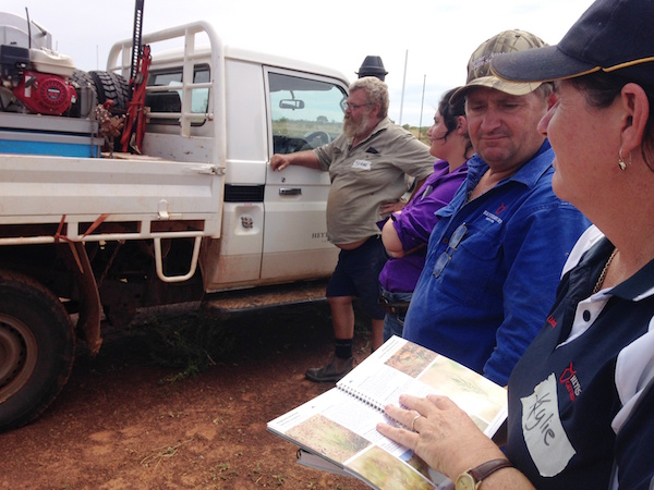 Photo 5. Getting amongst it Kylie and Lance Hutley, Managers of Birrundudu Station, working out what is what earlier this year at a Rangeland Management Course copy